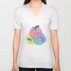 Magic Sparkles & Love Unisex V-Neck