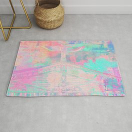 Totem Cabin Abstract - Pastel Rug