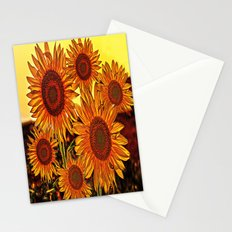 sunflowers family Stationery Cards