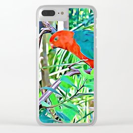 King Parrot Clear iPhone Case