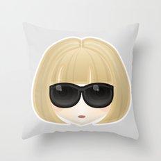 Anna Wintour Throw Pillow