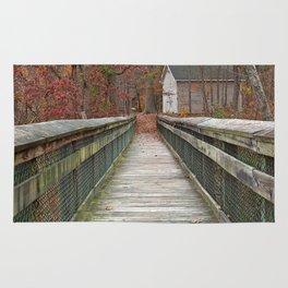 Rustic Autumn Boardwalk Rug