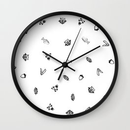 Camp Stamps Wall Clock