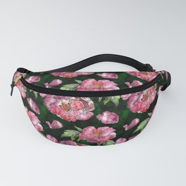 Roses and Peonies Pattern Fanny Pack