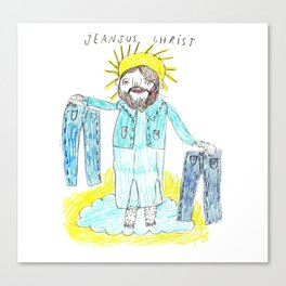 Jeansus Christ Canvas Print