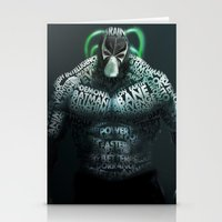 bane Stationery Cards featuring Bane by Midu