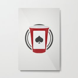 Red Solo Cup/Drinking Game Logo Metal Print