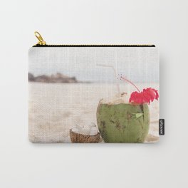 Coconut drink at the beach Carry-All Pouch