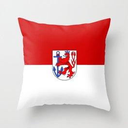 flag of Düsseldorf or Dusseldorf Throw Pillow