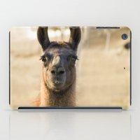 llama iPad Cases featuring LLAMA by Julie Zhang