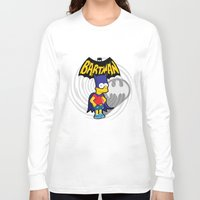 simpsons Long Sleeve T-shirts featuring Bartman: the simpsons superheroes by logoloco