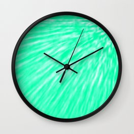 Seafoam Pixel Wind Wall Clock