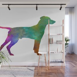 Hellenic Hound in watercolor Wall Mural