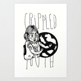 Crippled Youth Art Print