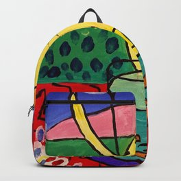 Cat with Red Fish- Henri Matisse Backpack