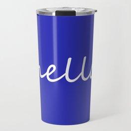 Hello blue Travel Mug