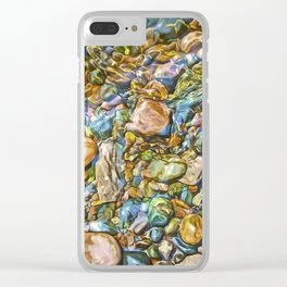 Baptism River Rocks Clear iPhone Case