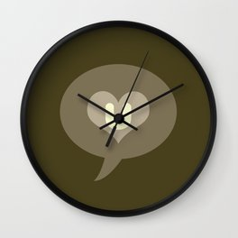 'I love you' pictogram Wall Clock