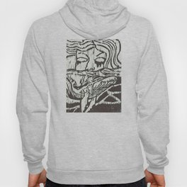 Woman, Whale and the Sea- Woodcut Hoody