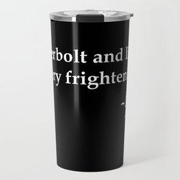 Galileo Quote Thunderbolt and Lightning white text Travel Mug