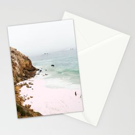 Pink Trails, Beach Tropical Travel Ocean Pastel Digital Art, Photography Sea Scenic Nature Landscape Stationery Cards
