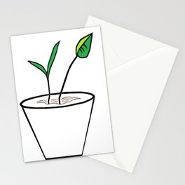 Minimalist Pot Plant Stationery Cards