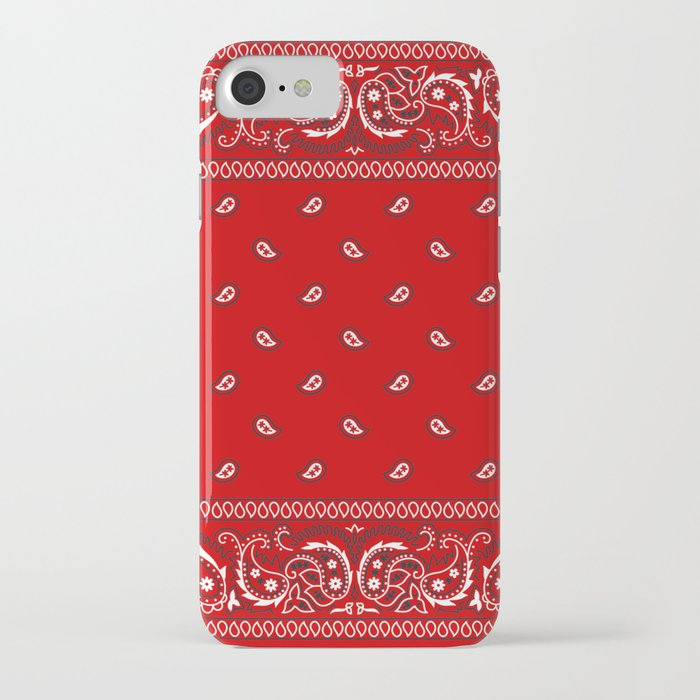 paisley - bandana - red - southwestern - boho iphone case