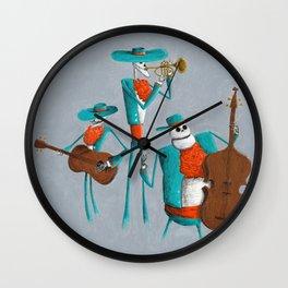 Mariachi Muerto Wall Clock