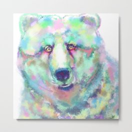 Cosmic Bear Metal Print