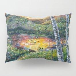 Sleeping Meadow  - Colorado Moose Crossing  Pillow Sham