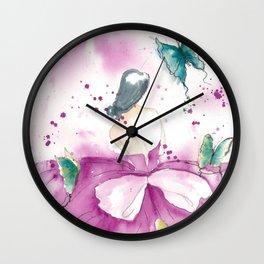 Ballerina with Butterflies Wall Clock