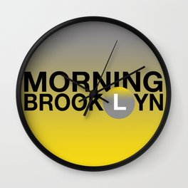 MORNING BROOKLYN Wall Clock