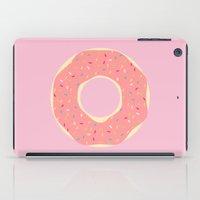 doughnut iPad Cases featuring #93 Doughnut by MNML Thing