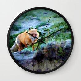 Foxy Lady  - Red Fox Wall Clock