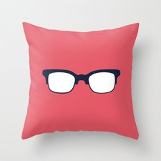 Sun Glasses on Red Throw Pillow