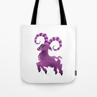aries Tote Bags featuring Aries! by Yetiland
