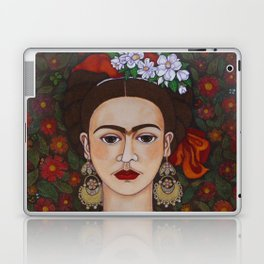 Frida with butterflies Laptop & iPad Skin