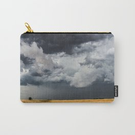 Cotton Candy - Storm Clouds Over Wheat Field in Kansas Carry-All Pouch