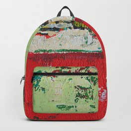 Dixon Red Green Abstract Painting Print Backpack