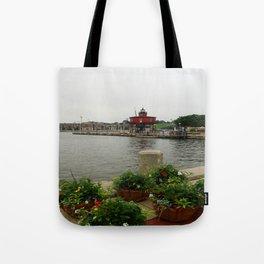 Seven Foot Knoll Light - Baltimore Inner Harbor Tote Bag