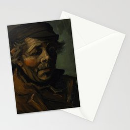 Vincent Van Gogh Head Of A Peasant Stationery Cards