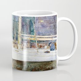 Frederick Childe Hassam - Drydock, Gloucester - Digital Remastered Edition Coffee Mug