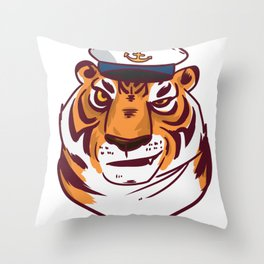 Seafarer adventure gift explorer conqueror Throw Pillow