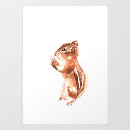 Chipmunk Wizard Art Print