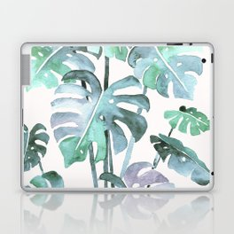 Delicate Monstera Blue And Green #society6 Laptop & iPad Skin