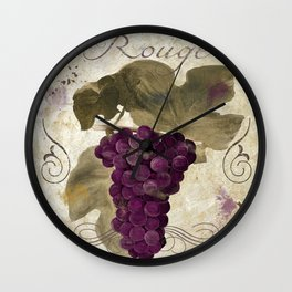 Tuscan Table Rouge Wall Clock