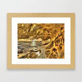 Chris Harsh Photos * Breaking Wave At Dawn Framed Art Print