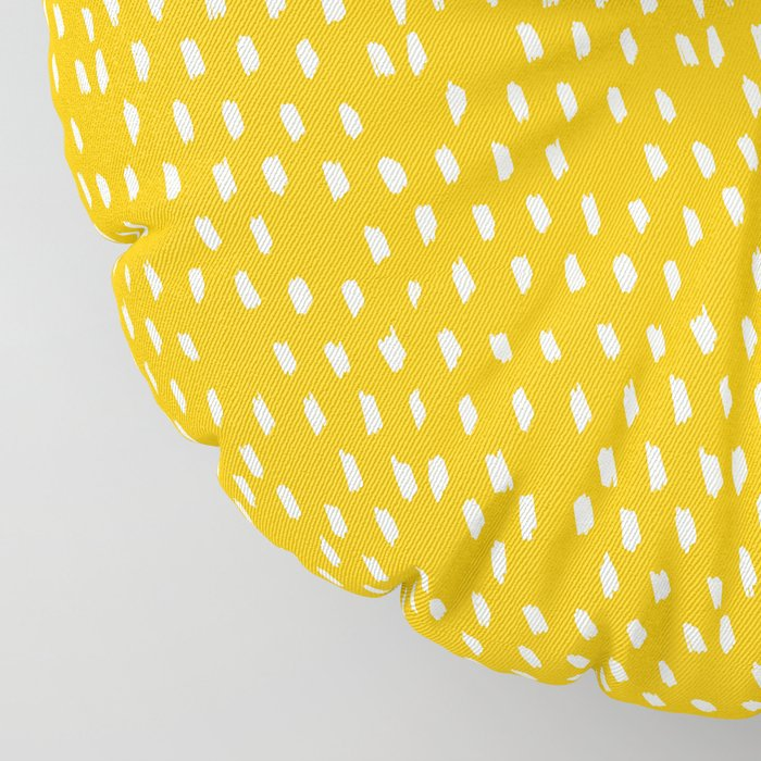 Yellow Modernist Floor Pillow