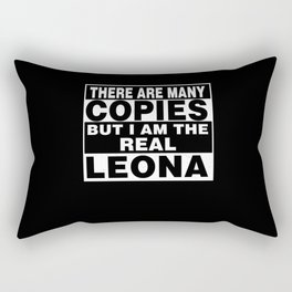 I Am Leona Funny Personal Personalized Gift Rectangular Pillow