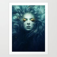 ink Art Prints featuring Ink by Anna Dittmann